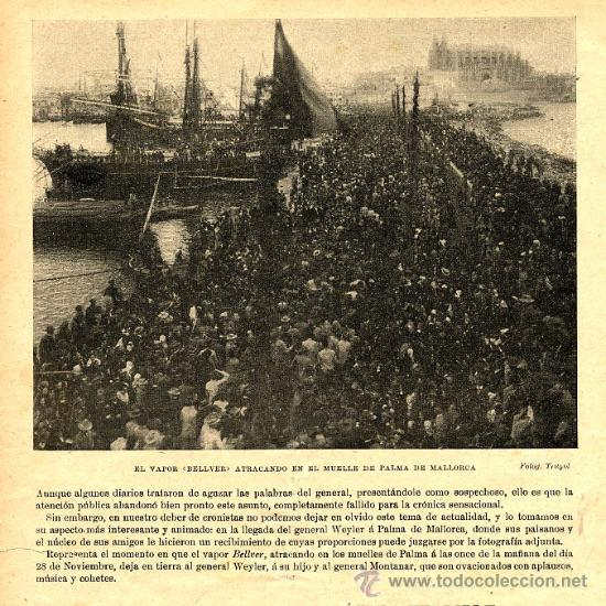 PALMA MALLORCA 1897 GENERAL WEYLER RETAL REVISTA (Coleccionismo - Revistas y Periódicos Modernos (a partir de 1.940) - Otros)