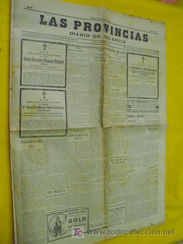 LAS PROVINCIAS. DIARIO DE VALENCIA. 18 OCTUBRE 1930 (Coleccionismo - Revistas y Periódicos Antiguos (hasta 1.939))