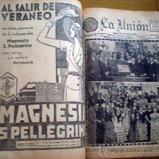 Coleccionismo de Revistas y Periódicos: LA UNION DIARIO GRAFICO INDEPENDIENTE - SEVILLA - 1 TOMO CON PERIODICOS DE 1935. Lote 27011319