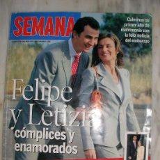 Coleccionismo de Revistas y Periódicos: REVISTA SEMANA ESPECIAL 65 ANIVERSARIO FELIPE Y LETIZIA COMPLICES Y ENAMORADOS. Lote 27410224
