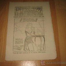 Coleccionismo de Revistas y Periódicos: EDITORIAL GUERRI ¡ SOLA ! NOVELA POR MARIO D`ANCONA CUPON Nº 150. Lote 20747159