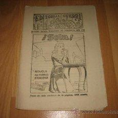 Coleccionismo de Revistas y Periódicos: EDITORIAL GUERRI ¡ SOLA ! NOVELA POR MARIO D`ANCONA CUPON Nº 152. Lote 20747201
