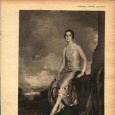 Coleccionismo de Revistas y Periódicos: RETRATO DE LA DUQUESA DE LERMA POR ÁLVAREZ DE SOTOMAYOR - 1928. Lote 195037920