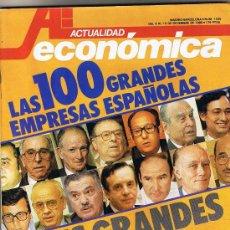 Coleccionismo de Revistas y Periódicos: REVISTA ACTUALIDAD ECONÓMICA - Nº 1435 - DICIEMBRE 1985 - LAS 100 GRANDES EMPRESAS ESPAÑOLAS. Lote 26582903
