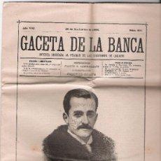 Coleccionismo de Revistas y Periódicos: GACETA DE LA BANCA Nº 365. 28 DE NOVIEMBRE DE 1894.. Lote 20964492