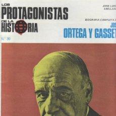 Coleccionismo de Revistas y Periódicos: PROTAGONISTAS DE LA HISTORIA.ORTEGA Y GASSET.FASCICULOS COLECCIONABLES Y MAS EN RASTRILLOPORTOBELLO. Lote 26053621