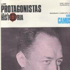 Coleccionismo de Revistas y Periódicos: PROTAGONISTAS DE LA HISTORIA.ALBERT CAMUS.FASCICULOS COLECCIONABLES Y MAS EN RASTRILLOPORTOBELLO. Lote 24954237