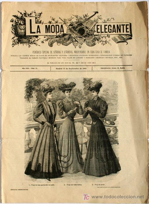 Antigua revista la moda elegante 1905 - Vendido en Venta Directa - 21140933