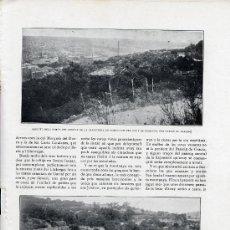 Coleccionismo de Revistas y Periódicos: MAONTJUICH 1915 ARREGLO MONTAÑA 3 HOJAS REVISTA. Lote 21152697