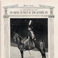 Coleccionismo de Revistas y Periódicos: ALFONSO XIII CUMPLEAÑOS 37 HOJA REVISTA. Lote 21229192