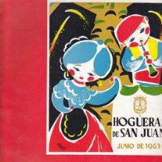Coleccionismo de Revistas y Periódicos: REVISTA OFICIAL DE HOGUERAS DE SAN JUAN - FESTA 1963, Nº 24. Lote 21353032