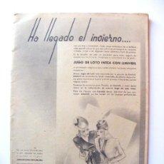 Coleccionismo de Revistas y Periódicos: REVISTA MUJER, HA LLEGADO EL INVIERNO, Nº43, ENERO 1941. Lote 21373600