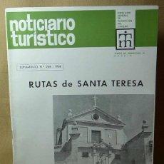 Coleccionismo de Revistas y Periódicos: REVISTA, NOTICIARIO TURISTICO, Nº 246, 1968, RUTAS DE SANTA TERESA. Lote 21375815