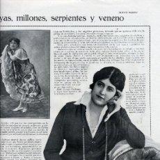 Coleccionismo de Revistas y Periódicos: ANITA DELGADO 1919 KAPURTALA 2 HOJAS REVISTA. Lote 21414635
