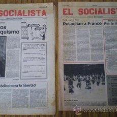 Coleccionismo de Revistas y Periódicos: 2 PERIÓDICOS .. EL SOCIALISTA .. FUNDADOR PABLO IGLESIAS ..1977. Lote 21423102