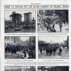 Coleccionismo de Revistas y Periódicos: BILBAO 1916 HUELGA HORNOS HOJA REVISTA. Lote 21501064