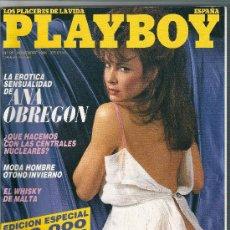 Coleccionismo de Revistas y Periódicos: PLAYBOY Nº 95 - ANA OBREGON, PLAYMATE: MELINDA MAYS - NOVIEMBRE 1986 - ESPECIAL 250.000 EJEMPLARES!. Lote 21510941