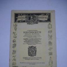 Coleccionismo de Revistas y Periódicos: CRONICA LITERARIA, REVISTA CERVANTINA.PORTADA CON FACSIMIL DE LA 1ª TRADUCCION ITALIANA DEL QUIJOTE. Lote 21545737