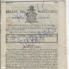 Coleccionismo de Revistas y Periódicos: DIARIO.BARCELONA.04-10-1835.CARLISMO.GUERRA. VOLUETA.PUENTE DE UZUETA.OLLARGAN.DURANGO.B. ESPARTERO.. Lote 21668028