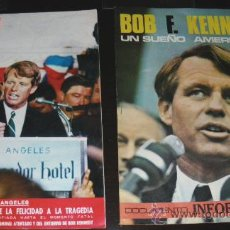 Coleccionismo de Revistas y Periódicos: LOTE DE DOS REVISTAS SOBRE BOB F. KENEDY - EL SUEÑO AMERICANO - AÑOS 60.. Lote 21743023