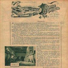 Coleccionismo de Revistas y Periódicos: * MANZANARES, CIUDAD REAL * PUBLICIDAD BODEGAS GERARDO G. CALCERRADA - 1933. Lote 21883815