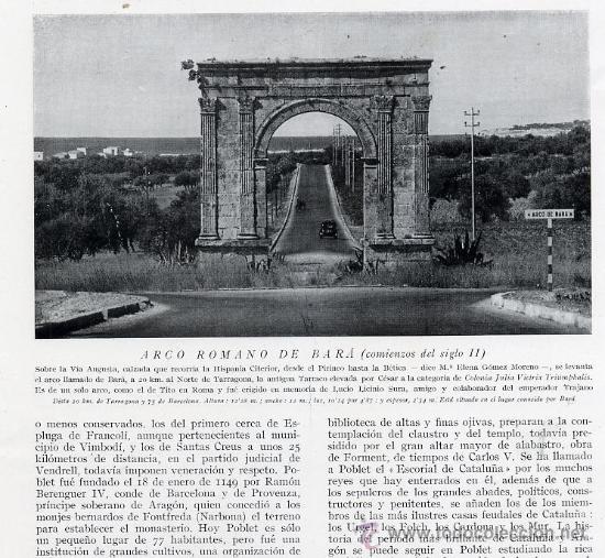 ARCO DE BARA 1930 TARRAGONA RETAL REVISTA (Coleccionismo - Revistas y Periódicos Modernos (a partir de 1.940) - Otros)