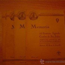 Coleccionismo de Revistas y Periódicos: LOTE DE 4 REVISTAS MEMORIA DEL INSTITUTO AGRICOLA,CATALAN DE SAN ISIDRO. Lote 21812463