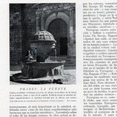 Coleccionismo de Revistas y Periódicos: PRADES 1930 TARRAGONA RETAL REVISTA. Lote 21831373