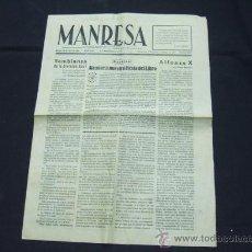 Coleccionismo de Revistas y Periódicos: DIARIO MANRESA - MARTES 28 DE ABRIL DE 1942 - . Lote 21836450
