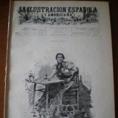 Coleccionismo de Revistas y Periódicos: ILUSTRACION ESPAÑOLA/AMERICANA (22/03/1899) TORO ZAMORA GUADARRAMA BURGOS VILLAMEJOR SOTOMAYOR. Lote 25439780