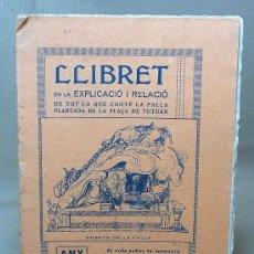 Coleccionismo de Revistas y Periódicos: LLIBRET DE LA FALLA DE LA PLAÇA DE TETUAN, 1927, VALENCIA. Lote 22211080