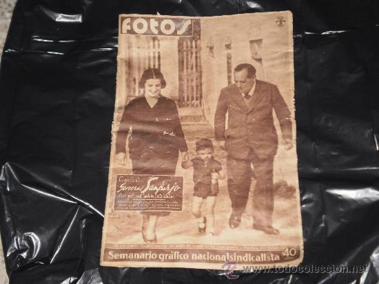SEMANARIO GRAFICO NACIONAL SINDICALISTA - FOTOS - NUMERO 139 , 28 DE OCTUBRE 1939 (Coleccionismo - Revistas y Periódicos Antiguos (hasta 1.939))