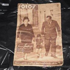 Coleccionismo de Revistas y Periódicos: SEMANARIO GRAFICO NACIONAL SINDICALISTA - FOTOS - NUMERO 139 , 28 DE OCTUBRE 1939. Lote 27536658