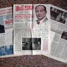 Coleccionismo de Revistas y Periódicos: TRES NÚMEROS DE PESCA BOLETÍN DIARIO DE INFORMACIÓN DE LA REUNIÓN SINDICAL PESQUERA BARCELONA 1955. Lote 26777443