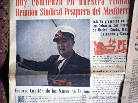 Coleccionismo de Revistas y Periódicos: TRES NÚMEROS DE PESCA BOLETÍN DIARIO DE INFORMACIÓN DE LA REUNIÓN SINDICAL PESQUERA BARCELONA 1955 - Foto 5 - 26777443