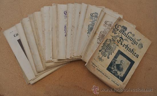 GRAN LOTE DE 72 REVISTAS: LA CATALUNYA ARTISTICA, EN CATALÀ. RARAS. DE 1900 A 1902. (Coleccionismo - Revistas y Periódicos Antiguos (hasta 1.939))
