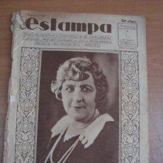 Coleccionismo de Revistas y Periódicos: REVISTA ESTAMPA. AÑO 1, Nº 6. 1928. Lote 22266646