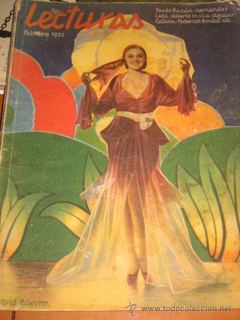 REVISTA LECTURAS. FEBRERO 1932 (Coleccionismo - Revistas y Periódicos Antiguos (hasta 1.939))