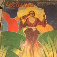 Coleccionismo de Revistas y Periódicos: REVISTA LECTURAS. FEBRERO 1932. Lote 22304597