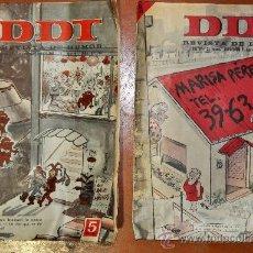 Coleccionismo de Revistas y Periódicos: PAREJA DE REVISTAS DE HUMOR DDT. DE AÑOS 60S. NUM 713 Y 736 DE 1965.. Lote 26398625
