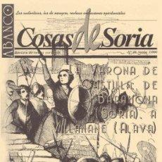 Coleccionismo de Revistas y Periódicos: ABANCO / COSAS DE SORIA Nº 38. Lote 22426654