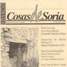 Coleccionismo de Revistas y Periódicos: ABANCO /COSAS DE SORIA Nº 41. Lote 22427165