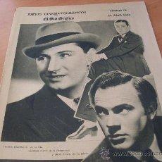 Coleccionismo de Revistas y Periódicos: JUEVES CINEMATOGRAFICOS EL DIA GRAFICO Nº 379 25 ABRIL 1935 (RAMON NOVARRO PIERRE BRASSEUR). Lote 22514403