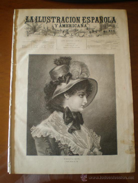 ILUSTRACION ESPAÑOLA/AMERICANA (08/01/94) MELILLA TOLEDO TANGER VELAZQUEZ MARRUECOS ARGELIA (Coleccionismo - Revistas y Periódicos Antiguos (hasta 1.939))