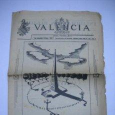 Coleccionismo de Revistas y Periódicos: GUERRA CIVIL.VALENCIA Nº 8.15 MAYO 1937.SEMANARIO GRÁFICO EDITADO EN S.SEBASTIÁN.PROYECTO MONUMENTO. Lote 23760709