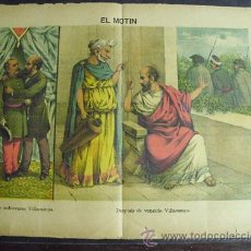 Coleccionismo de Revistas y Periódicos: EL MOTÍN - PERIÓDICO SATÍRICO SEMANAL. Nº 48 - 1 DICIEMBRE 1889. PERIÓDICO COMPLETO. Lote 22524064