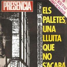Coleccionismo de Revistas y Periódicos: REVISTA PRESENCIA Nº 433 JULIOL 1976. Lote 22530754