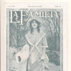 Coleccionismo de Revistas y Periódicos: REVISTA LA FAMILIA- DICIEMBRE 1927. Lote 27437618