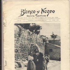 Coleccionismo de Revistas y Periódicos: REVISTA BLANCO Y NEGRO- 19 DE AGOSTO 1928. Lote 27595180