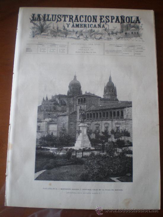 ILUSTRACION ESPAÑOLA/AMERICANA (15/05/94) AVILA SALAMANCA CONSERVATORIO MADRID BALI OÑATE MILAN (Coleccionismo - Revistas y Periódicos Antiguos (hasta 1.939))